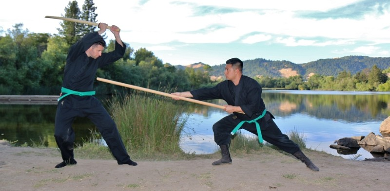 Outdoor Martial Arts Classes in Santa Rosa, at Bujinkan Sonoma Dojo